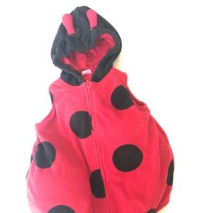 Carters ladybug puffy costume for babies